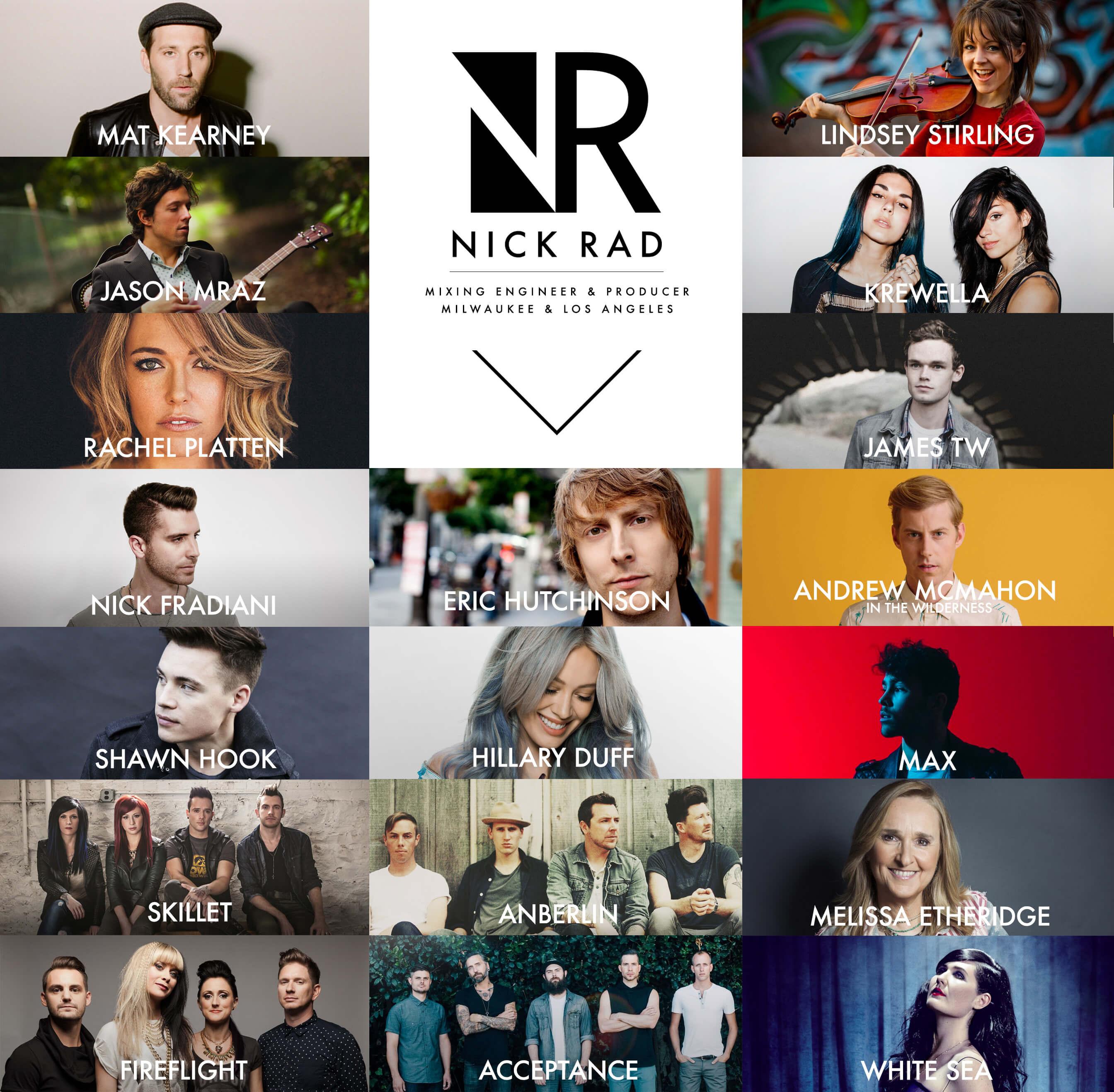 Nick Rad - LA Based Mixing Engineer and Producer